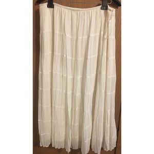 Dresses & Skirts - Boho Crinkled Chiffon Pull-on Broomstick Skirt